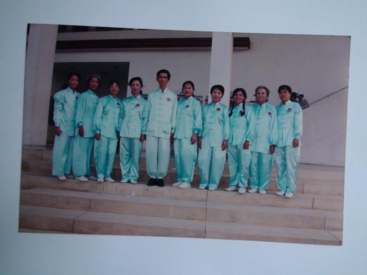 Lương Y Phan Cao Bình và đội tuyển nữ biểu diễn Thái cực quyền TPHCM